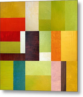 Color Study Abstract 10.0 Metal Print by Michelle Calkins