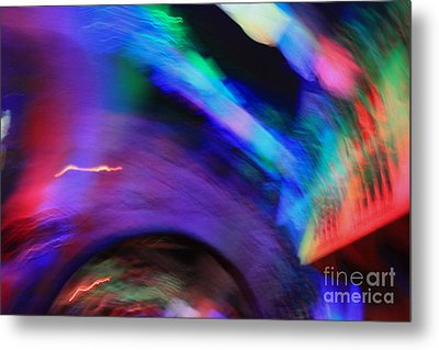 Metal Print featuring the pyrography Color Tunnel  by Chris Thomas