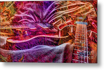 Color Wheel Digital Guitar Art By Steven Langston Metal Print by Steven Lebron Langston