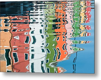 Colorful Canal Metal Print by Joan Herwig