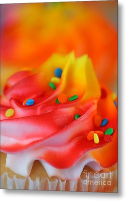 Colorful Cup Cake Metal Print by Darren Fisher
