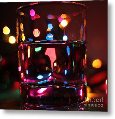 Colorful Glass Bokeh Metal Print by Jimmy Ostgard