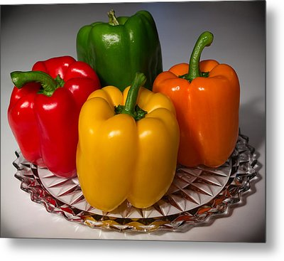 Colorful Platter Metal Print by Shane Bechler