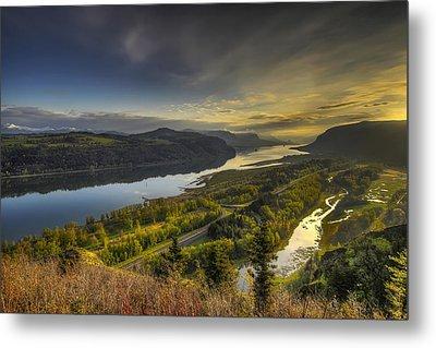 Columbia River Gorge At Sunrise Metal Print