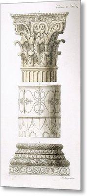 Column And Capital Metal Print by English School