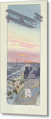 Comte Charles De Lambert Flying Metal Print by Marguerite Montaut