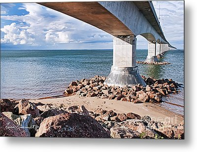 Confederation Bridge Metal Print