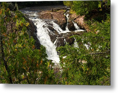 Conglomerate Falls Metal Print by Thomas Pettengill