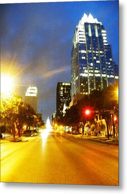 Congress Boulevard Austin Metal Print by The GYPSY And DEBBIE