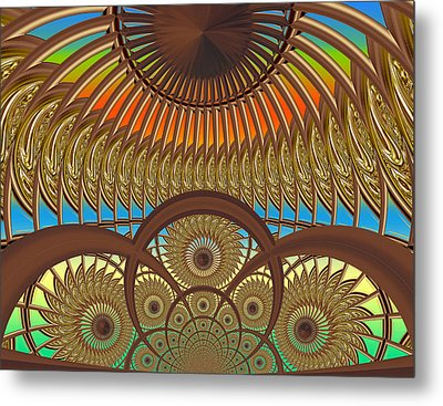 Conservatory - Sunset Metal Print by Wendy J St Christopher