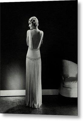 Constance Bennett As Seen From Behind Metal Print by Edward Steichen