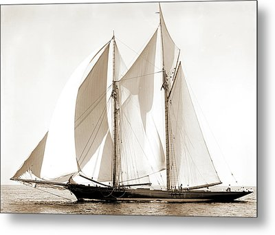 Constellation, Constellation Schooner, Commodore Gerry Cup Metal Print