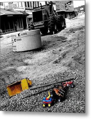 Construction Site Metal Print by   Joe Beasley