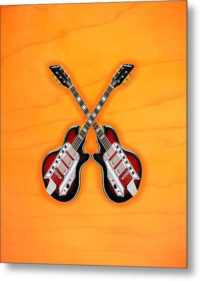 Cool Vintage Guitar Metal Print by Doron Mafdoos
