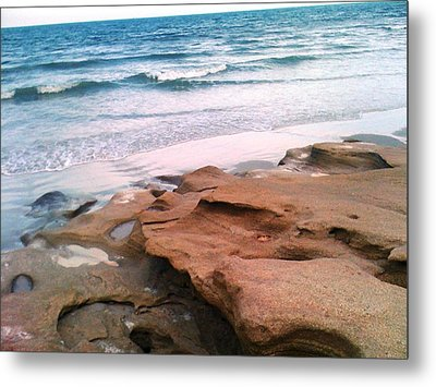 Coquina Blue Metal Print by Julie Wilcox