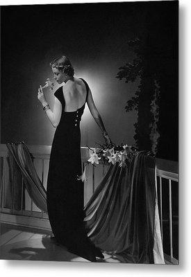 Cora Hemmet Wearing A Vionnet Gown Metal Print