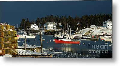 Metal Print featuring the photograph Corea Harbor Fishing Fleet by Christopher Mace