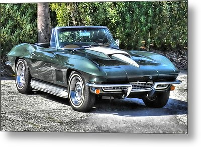 Metal Print featuring the photograph Corvette Convertible by Victor Montgomery