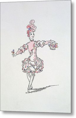 Costume Design For A Young Egyptian Dressed As Spring Metal Print by French School