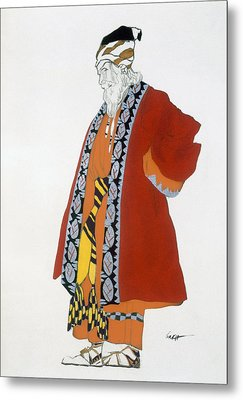 Costume Design For An Old Man In A Red Metal Print