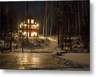 Cottage Country - Winter Metal Print by Pat Speirs