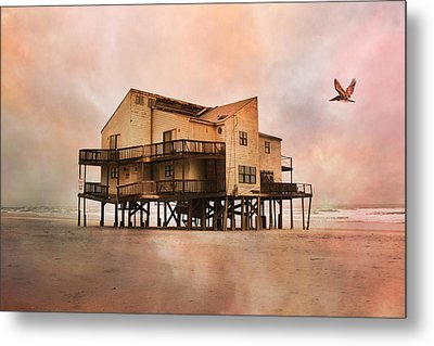 Cottage Of The Past Metal Print by Betsy Knapp