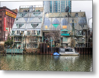 Cottages On The River Metal Print by Michael  Bennett