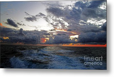 Cotton Candy Sky 2 Metal Print by Alison Tomich