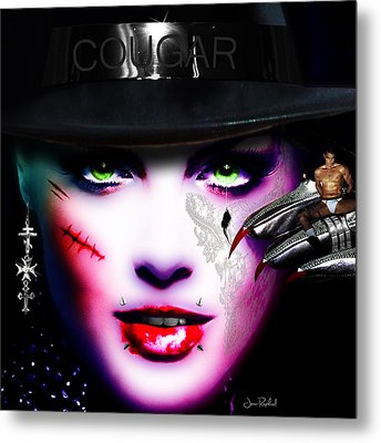 Cougar Rainbow Metal Print
