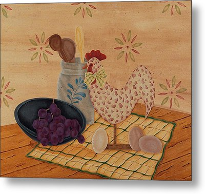 Country Kitchen Metal Print by Tracy Campbell