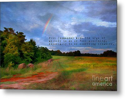 Country Rainbow Metal Print by Darren Fisher