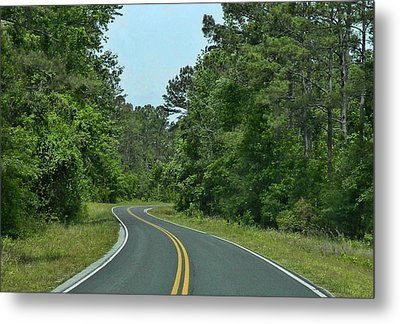 Metal Print featuring the photograph Country Road by Victor Montgomery