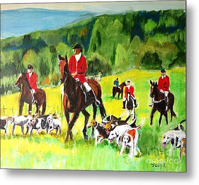 Countryside Hunt Metal Print by Judy Kay