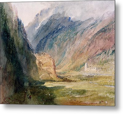 Couvent Du Bonhomme Chamonix Metal Print by Joseph Mallord William Turner