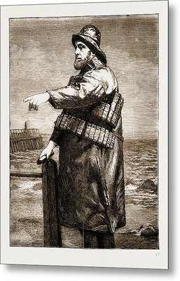 Coxswain Robert Hook Of The Lowestoft Lifeboat Samuel Metal Print by Litz Collection