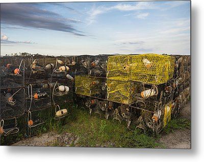 Metal Print featuring the photograph Crab Pots by Gregg Southard