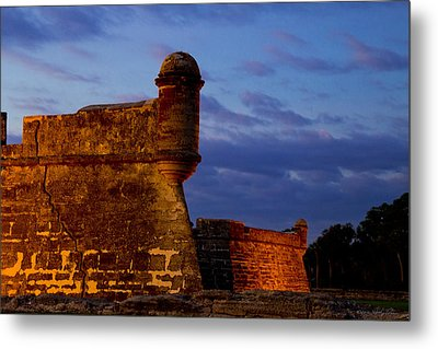 Crack In The Armor  Metal Print by Kathy Ponce