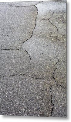 Cracked Tarmac Metal Print by Tom Gowanlock