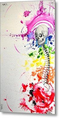 Crainial Sacral Chakra Metal Print by James Foote