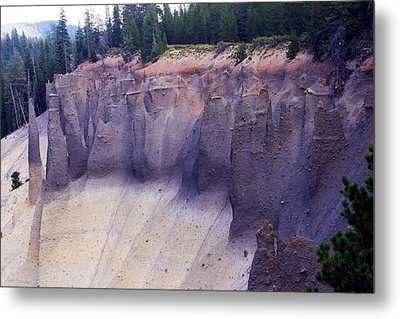 Crater Lake Pinnacles Metal Print by Michael Courtney