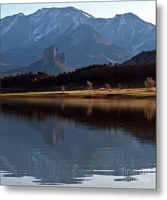 Metal Print featuring the photograph Crawford Reservoir And Needlrock by Eric Rundle