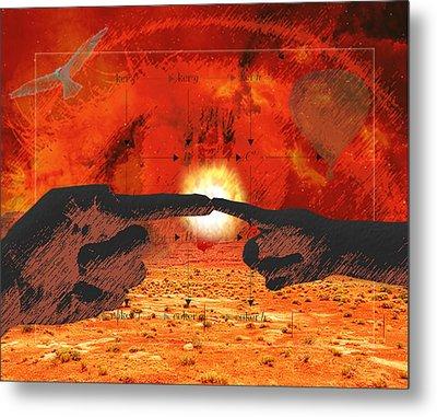 Creation. Metal Print by Diskrid Art
