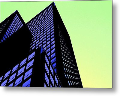 crisp angles NY city Metal Print by Terry Horstman