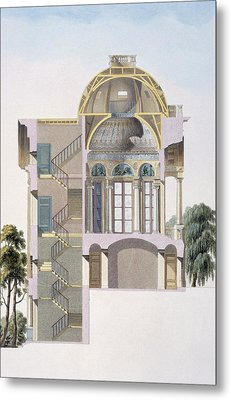 Cross Section Of The Pavilion Metal Print by Pierre Jacques Goetghebuer
