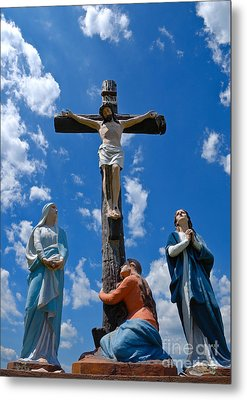 Cruficix Statue At Saint Alphonsus Church Wexford Metal Print