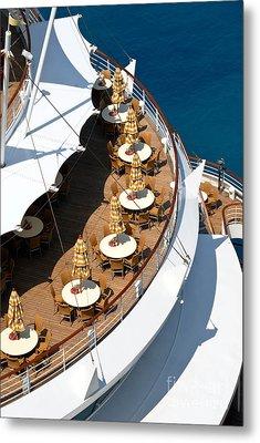 Cruise Ship Symmetry Metal Print