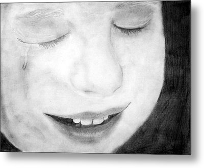 Crying Baby Metal Print by Dianovich Diana