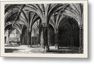 Crypt Of The Guildhall London Uk Metal Print
