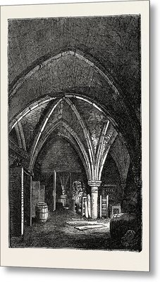 Crypt Under Gerards Hall, Basing Lane Metal Print