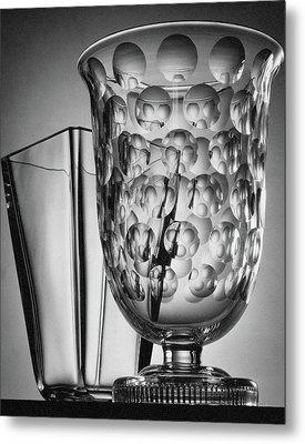 Crystal Vases From Steuben Metal Print